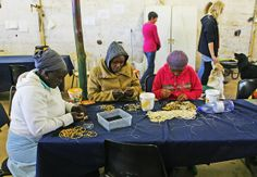 The MRDP beaders making our CYCLE FORCE bracelets. Our cause-related bracelets Provide sustainable local employment. www.beadcoalition.com