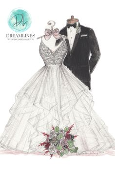 Personalized sketch of her wedding day. A gift to take her breath away. Her wedding dress sketched and framed. #weddingdresssketch #dreamlinesweddingdresssketch #dreamlinessketch #anniversarygift #weddinggift #bridegift #bridalshowergift Wedding Ring For Her, Chic Wedding, Wedding Tips, Perfect Wedding, Wedding Styles, Wedding Gowns, Wedding Day, Romantic Gifts For Wife, Best Gift For Wife