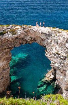 Tripito Arch, Paxi island    Visit lovtrav.com and discover hidden treasures of Greece!