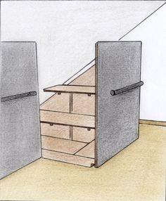 bevor sie den schrank bauen sollten sie aus latten eine genaue schablone herstellen die genau. Black Bedroom Furniture Sets. Home Design Ideas