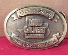 LORD CALVERT CANADIAN WHISKEY  BELT BUCKLE