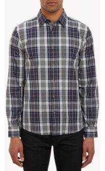 Plaid Tailored-Fit Shirt($49.00) 72% Off #men's-apparel