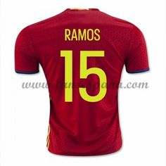 0b8f81d2d Spain Euro 2016 Home Men Authentic Soccer Jersey RAMOS Item Specifics  Brand  Adidas Gender  Men s Adult Model Year  Material  Polyester Type of B