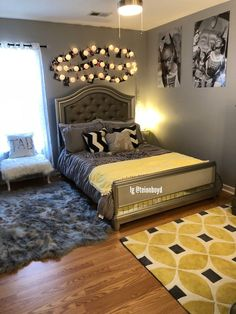 Teen girl bedrooms, check out this plan for that really superb teen girl room decorating, reference number 4255495504 Room Ideas Bedroom, Home Decor Bedroom, Bedroom Inspo, Bed Room, Decoration Bedroom, Cute Room Decor, Teen Girl Bedrooms, Gray Bedroom, Bedroom Yellow