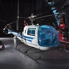 The first presidential helicopter, USAF H-13J-BF Sioux 57-2729,