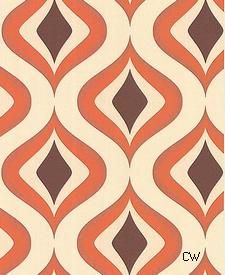 Trippy Retro 70's Wallpaper Product Code: 50-15195.  Single Roll $30.80.  CreativeWallCovering.com