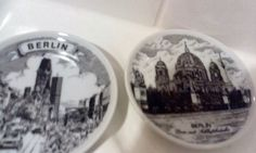 Pair of Berlin Ceramic Coasters by OldVintageTreasures2 on Etsy