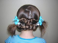 Quick and easy braided pretzel hairstyle