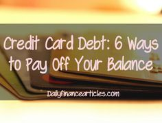 If you feel weighed down because of large unpaid balance running in your credit cards, you are not alone. Learn how you can get rid of this balance in easy ways.