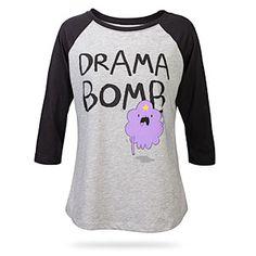 Adventure Time Drama Bomb Raglan Ladies' Tee