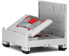 Collapsible bulk containers offer cost advantages due to reduction in volume for return transport.    cut-out handles with flaps for easier loading and unloading  stackable – even with lid  optional with label holder  up from 1000 units, customized colours are possible    Price : £219.70    Weight : 0.00 kg