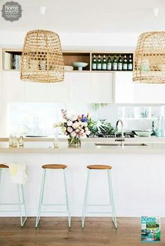 Gorgeous coastal kitchen  Via Home Beautiful Magazine Australia