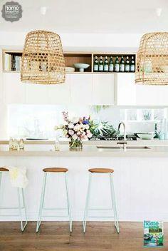 Gorgeous coastal kitchen  Via Home Beautiful Magazine Australia