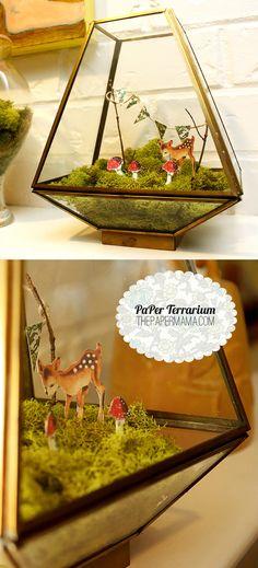 Paper Terrarium via The Paper Mama