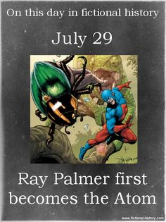 """Ray Palmer first becomes the Atom."" (Source)"