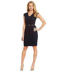 a4ad3516c3 Antonio Melani Paltrow Belted Linen Dress  Dillards