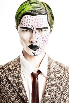 Artist Unknown. Pop Art | Comics Makeup | Artistic Makeup