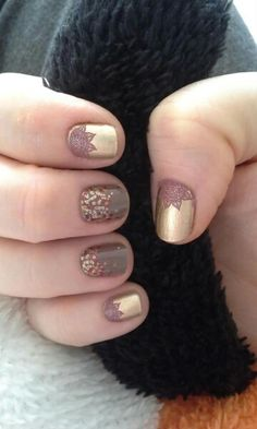 Midas Lacquer, Ohm, & Apple Cider.  I'm loving that Ohm as an accent!!!