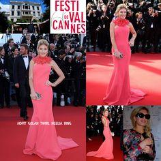 Hofit Golan au Festival de Cannes avec la bague et la manchette Twirl en or blanc et diamants