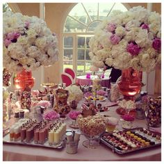 Is this the ultimate dessert buffet? #wedding #dessert // This 'Dessert Room' was created by British Wedding planners Niemierko luxury event and wedding planners.