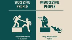 Successful People,They want others to succeed. Unsucceessful people,They want others to fail.