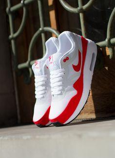 "innovative design 8b258 c0739 Nike Air Max 1 OG Premium Tape QS ""Challenge Red"" Vestido, Zapatos Baratos"