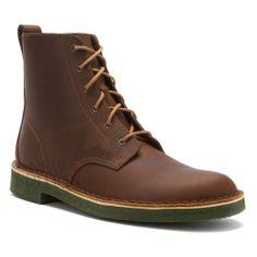 Clarks Originals Desert Mali Men's Leather Boots 66308 Beeswax / Green Crepe
