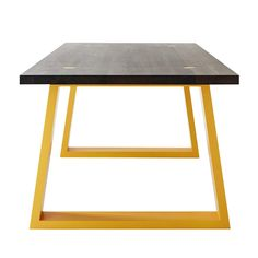 MARK TUCKEY locator dark dining table. 40mm american ash with black wash top and painted base. Design: Louella Tuckey