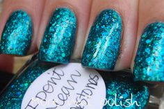 For this mani I layered two wiped coats of I Don't Mean Rhinestones over Lilacquer The Diva Plavalaguna.