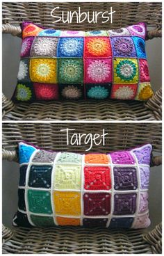 17 ideas crochet pillow cover granny free pattern - Home Accessories Diy Diy Crochet Patterns, Crochet Diy, Crochet Home, Crochet Designs, Crochet Crafts, Crochet Projects, Knitting Patterns, Crochet Cushion Cover, Crochet Cushions