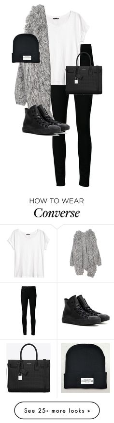 """Untitled #10873"" by alexsrogers on Polyvore featuring Paige Denim, H&M, Converse, Yves Saint Laurent, women's clothing, women, female, woman, misses and juniors"