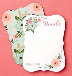 Embellishments make these Thank You cards stand out. | Tiny Prints