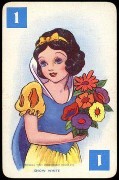 vintage game card snow white