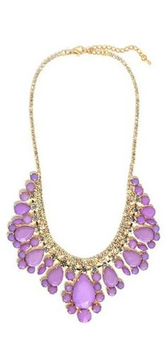 Purple bib necklace.