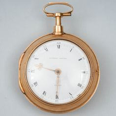 EARDLEY NORTON, London, taskukello, 17k kultaa, ei leimoja, 1800-luvun alku, kotelossa tekstiili H. Biban Lubeck.  EARDLEY NORTON, London, pocket watch, 17k gold, no stamps, early 19th century, case has a textile H. Biban Lubeck. Pocket Watch, 19th Century, Stamps, London, Watches, Gold, Accessories, Seals, Wristwatches