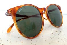 Ray Ban B&L Round Tortoise Sunglasses Traditionals Style C Vintage FRANCE RARE #RayBanBL #Round