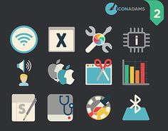 This pack icons for Utilities applications. Game Gui, Flat Icons, Working On Myself, New Work, Behance, Flats, Gallery, Check, Free