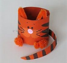 Cardboard Tube Crafts for Kids - Crafts by Amanda Toilet Roll Craft, Toilet Paper Roll Art, Rolled Paper Art, Toilet Paper Roll Crafts, Kids Toilet, Toilet Tube, Cat Crafts, Animal Crafts, Crafts To Do