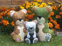 Teddy Family: Mon, Dad and Baby