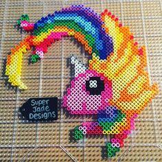 Lady Rainicorn - Adventure Time perler beads by  superjadedesigns