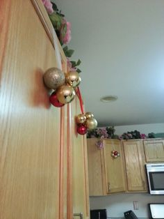 Cabinet decoration. #diy #christmas #ornaments