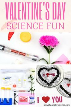 Lovable science activities you can do all year long. Uses many fields of science to make a scientific learning experience that is fun and engaging. Fun Valentines Day Ideas, Valentines Day Activities, Craft Activities For Kids, Science Activities, Valentine Crafts, Be My Valentine, Science Kits, Science For Kids, Mad Science