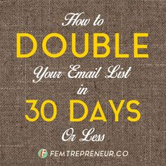Yes, your email list is important and you too need to get one up and running if you don't already. The value of having access to your readers in a more personal way is immense. The people that sign up for your emails are your most wonderful, loyal, engaged readers that want more from you.