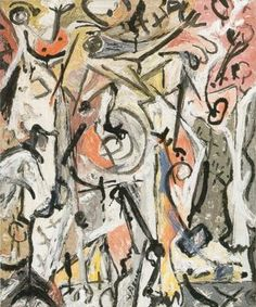 "Jackson Pollock - Grey Center - 1946 - Oil paint on canvas - 23"" X 18.2"""