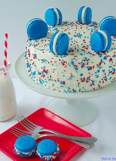 Red White & Blue Cake for Independence Day