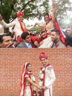 Indian Wedding Atlanta Garrett Frandsen Bride and Groom