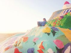 STYLE / 92....Salvation Mountain (an hour from Palm Springs) adobe, paint, magical place in the middle of the desert.