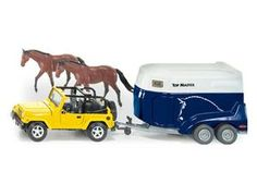 The 1/32 Jeep with Horsebox from the Siku Farmer Series - Discounts on all Siku Diecast Models at Wonderland Models.    One of our favourite models in the Siku Farmer Series Farm Machinery range is the Siku Jeep with Horsebox.    Siku manufacture wonderful, amazingly accurate and detailed diecast models of all sorts of vehicles, particularly farm vehicles including this Jeep with Horsebox which can be complemented by any of the items in the Farmer Series range.