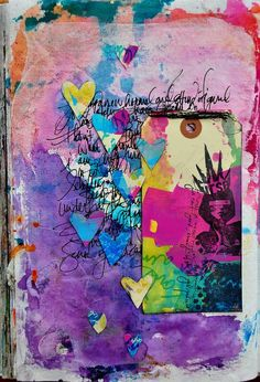 dina wakley art journal dec 2012