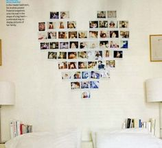 Had seen this idea awhile back - would be such a cute way to do a photo display!